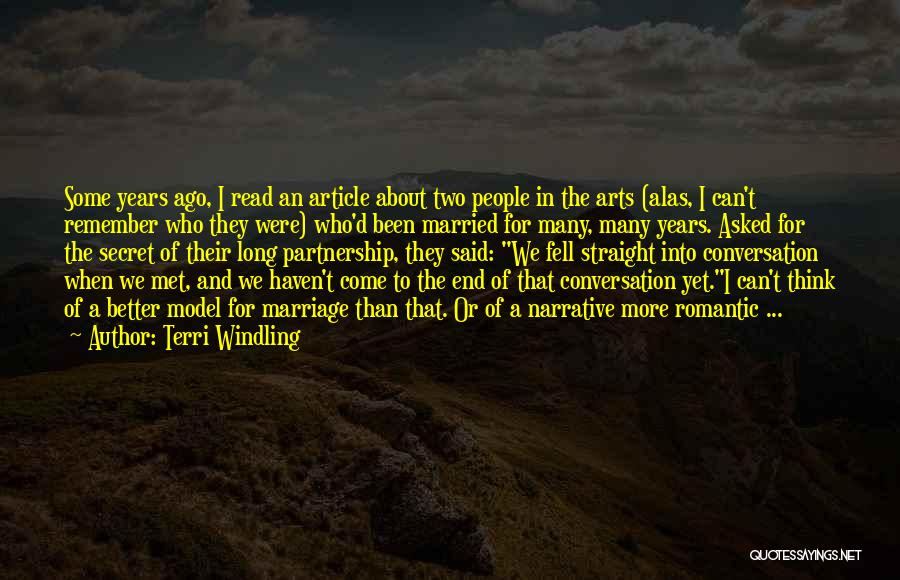 Narrative Love Quotes By Terri Windling
