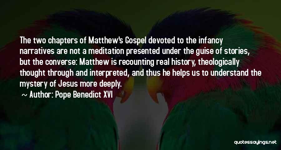 Narratives Quotes By Pope Benedict XVI