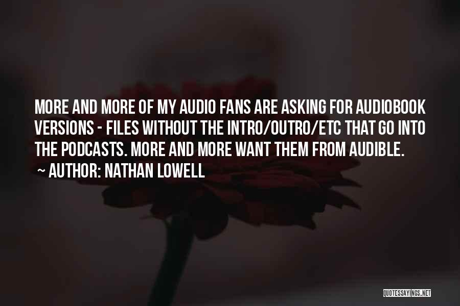 Nathan Lowell Quotes 1808180