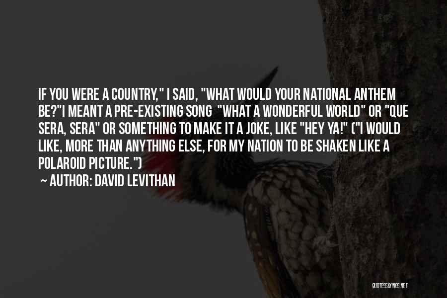 National Anthem Quotes By David Levithan
