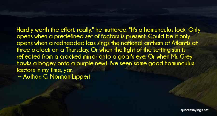 National Anthem Quotes By G. Norman Lippert