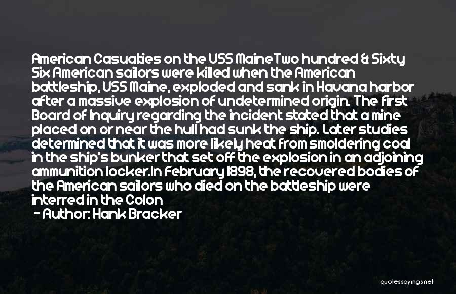 National Cemetery Quotes By Hank Bracker