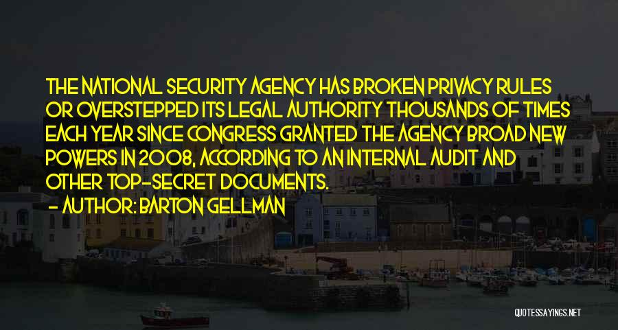 National Security And Privacy Quotes By Barton Gellman