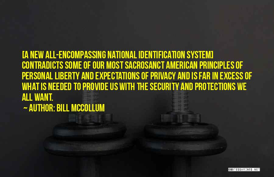 National Security And Privacy Quotes By Bill McCollum