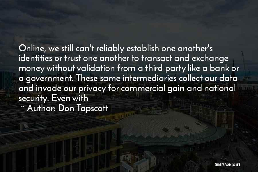 National Security And Privacy Quotes By Don Tapscott