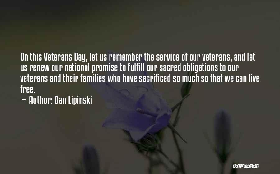 National Service Quotes By Dan Lipinski