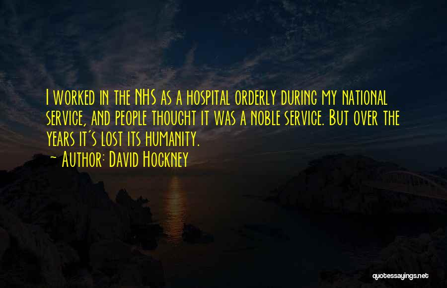 National Service Quotes By David Hockney