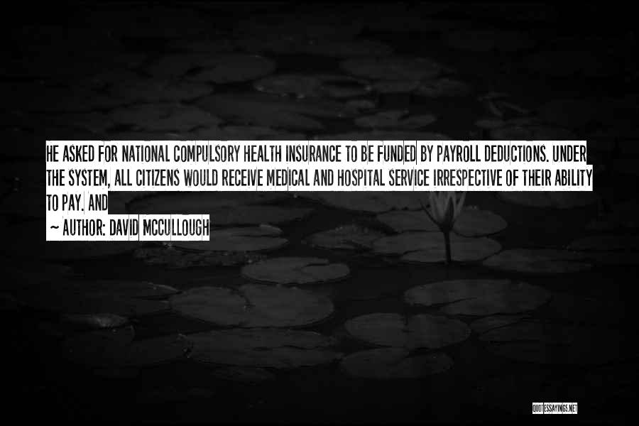 National Service Quotes By David McCullough