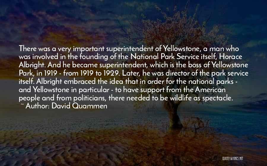 National Service Quotes By David Quammen