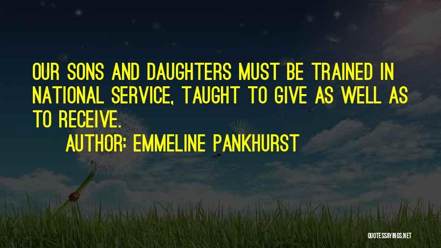 National Service Quotes By Emmeline Pankhurst
