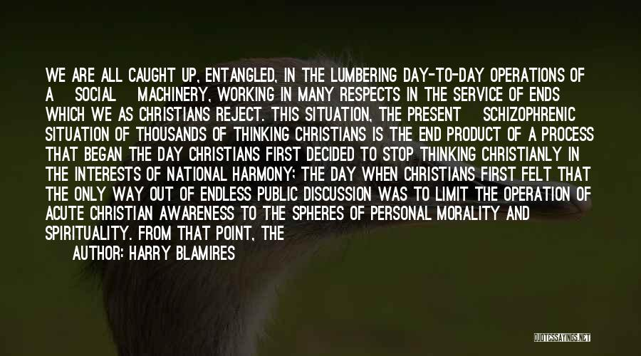National Service Quotes By Harry Blamires