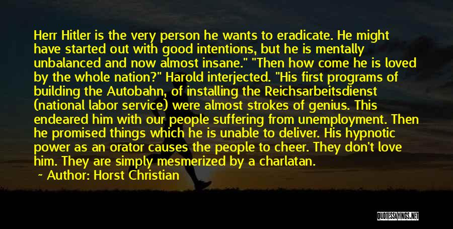 National Service Quotes By Horst Christian