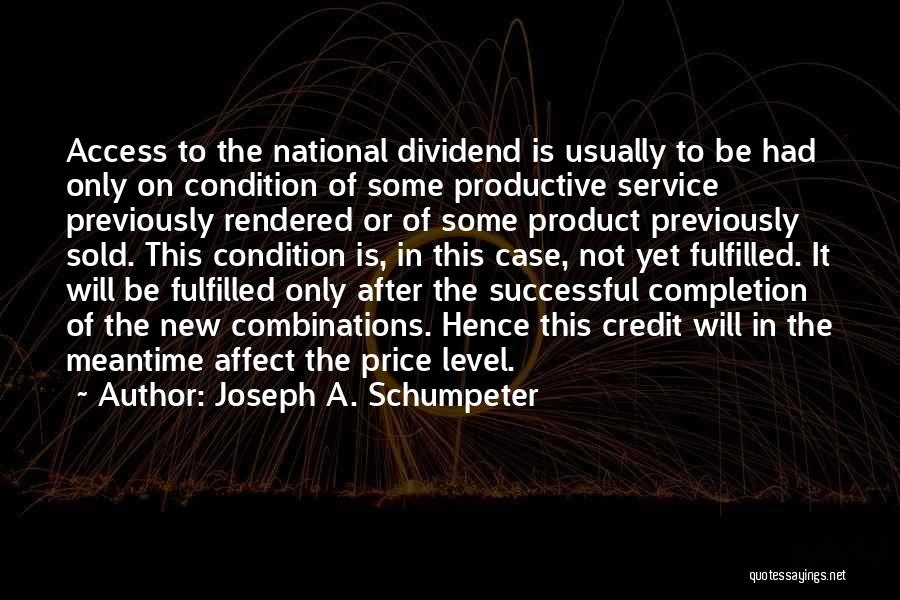 National Service Quotes By Joseph A. Schumpeter