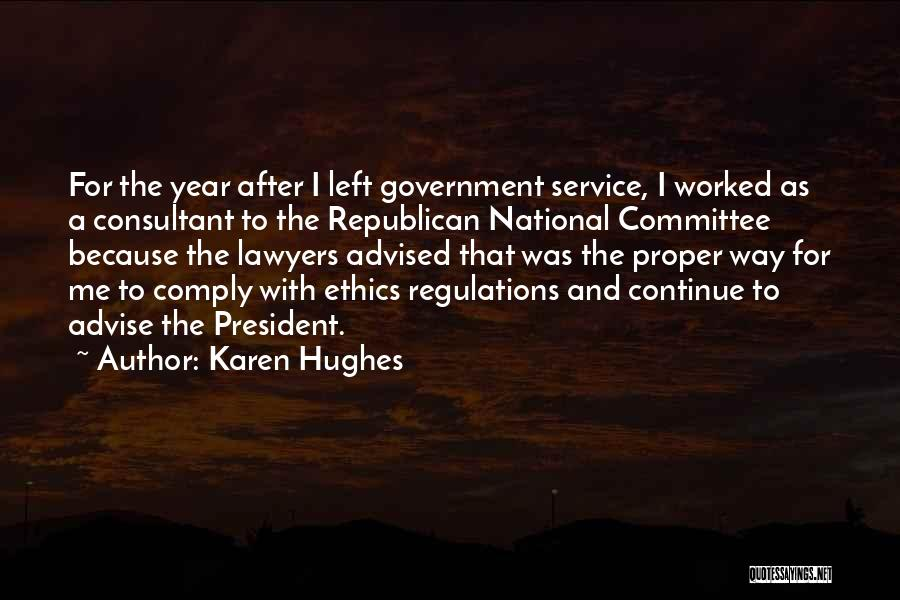 National Service Quotes By Karen Hughes