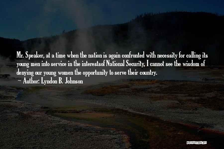 National Service Quotes By Lyndon B. Johnson