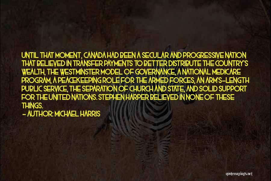 National Service Quotes By Michael Harris