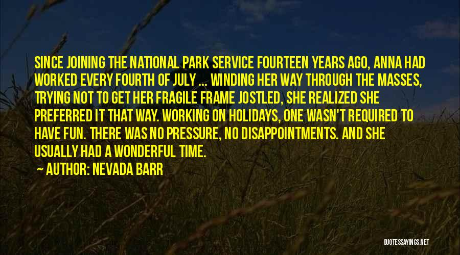 National Service Quotes By Nevada Barr