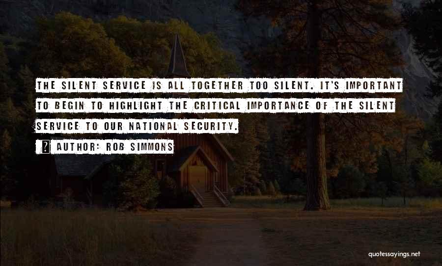 National Service Quotes By Rob Simmons