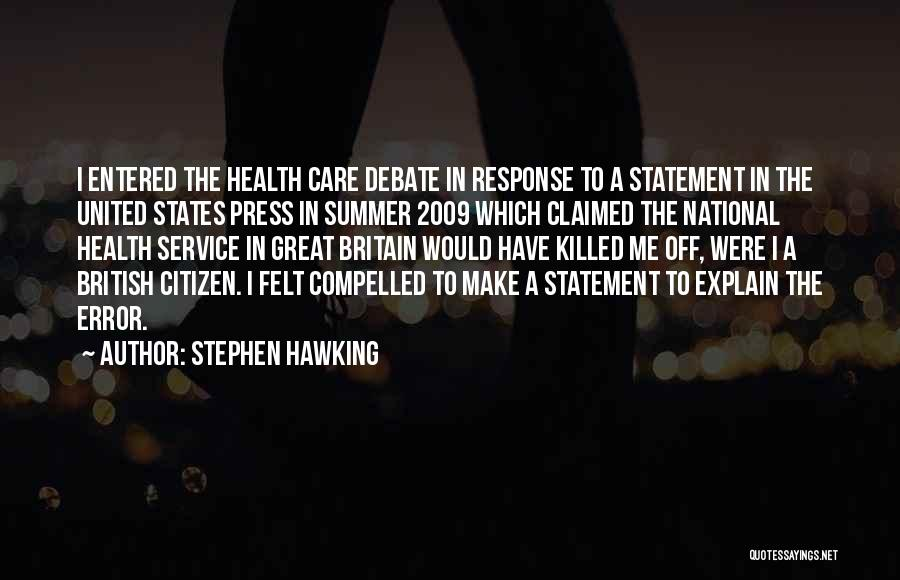 National Service Quotes By Stephen Hawking