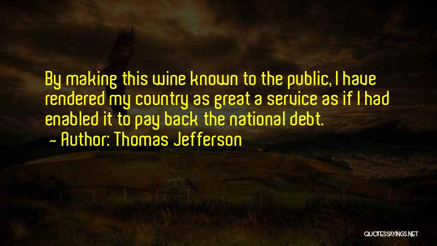 National Service Quotes By Thomas Jefferson
