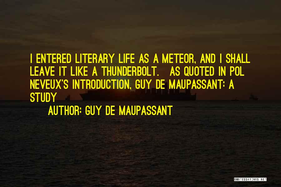 Natural News Quotes By Guy De Maupassant