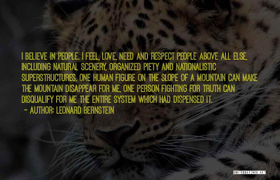 Natural Scenery Quotes By Leonard Bernstein