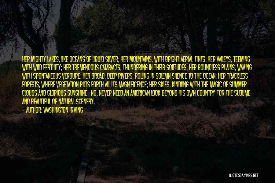 Natural Scenery Quotes By Washington Irving