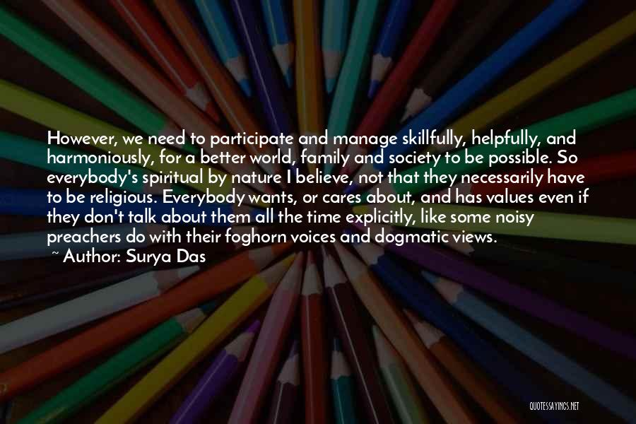 Nature And Family Quotes By Surya Das