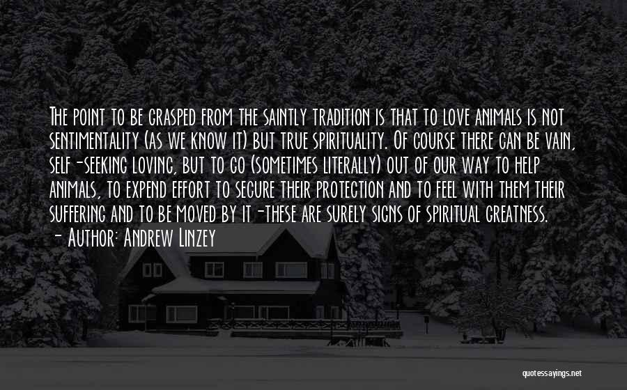 Nature Loving Quotes By Andrew Linzey