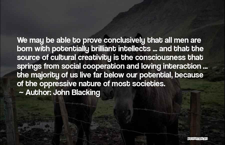 Nature Loving Quotes By John Blacking