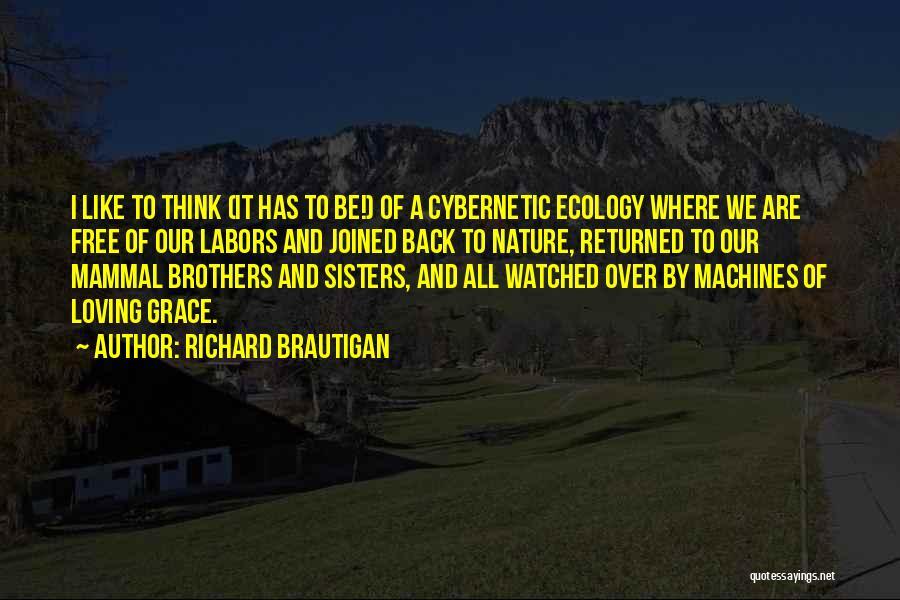 Nature Loving Quotes By Richard Brautigan