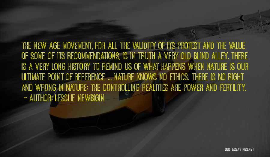 Nature Of Quotes By Lesslie Newbigin