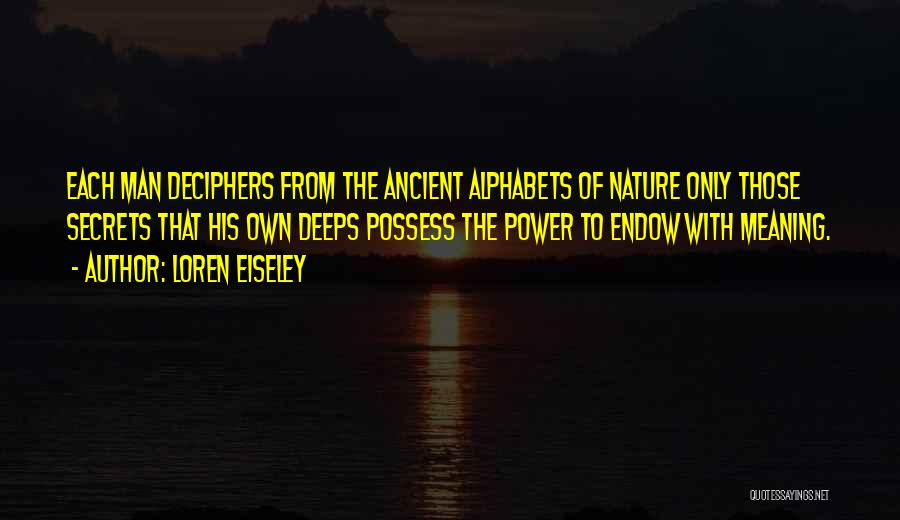 Nature Of Quotes By Loren Eiseley