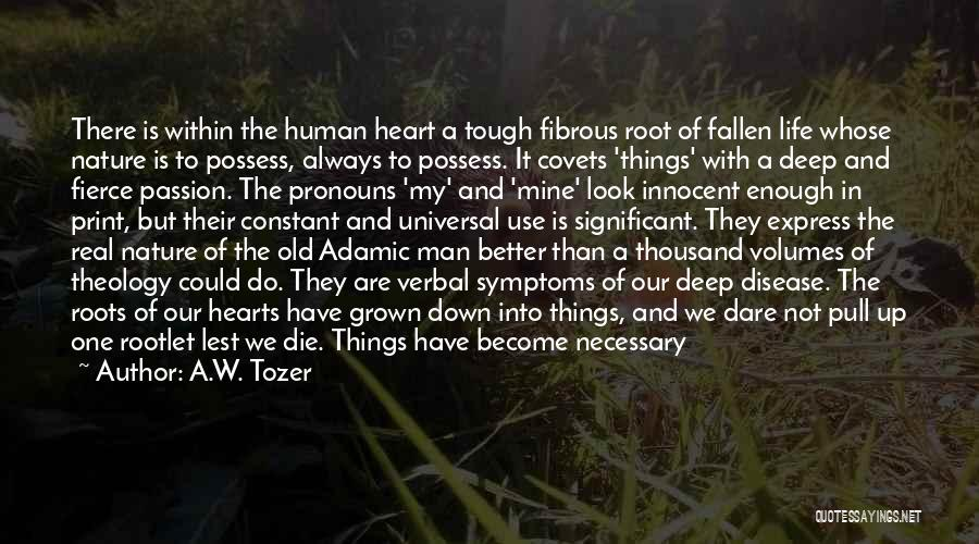 Nature Of Things Quotes By A.W. Tozer