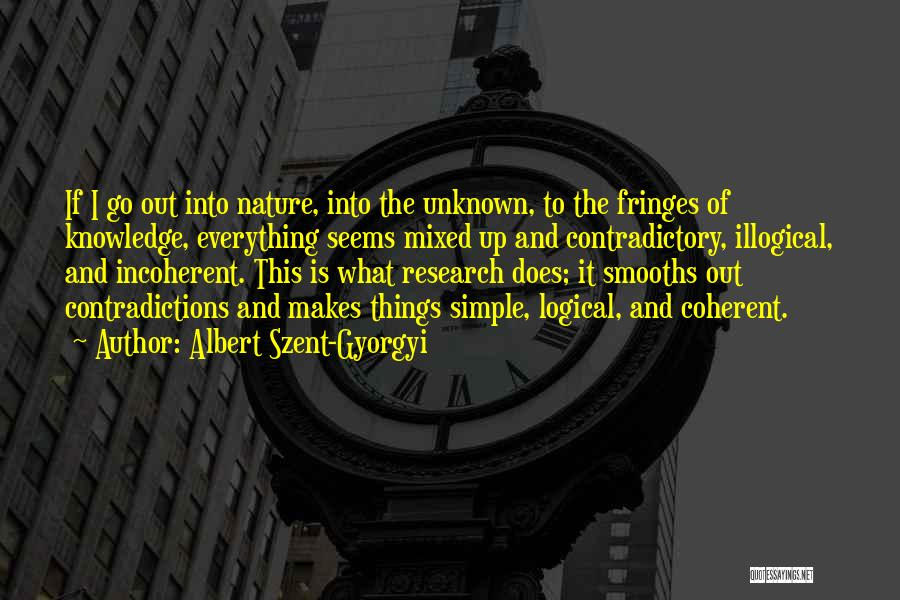 Nature Of Things Quotes By Albert Szent-Gyorgyi