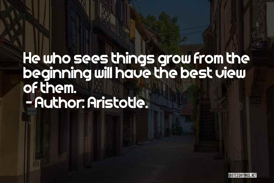 Nature Of Things Quotes By Aristotle.