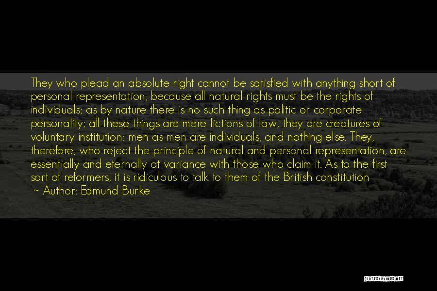 Nature Of Things Quotes By Edmund Burke