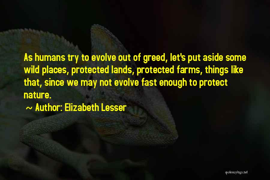 Nature Of Things Quotes By Elizabeth Lesser