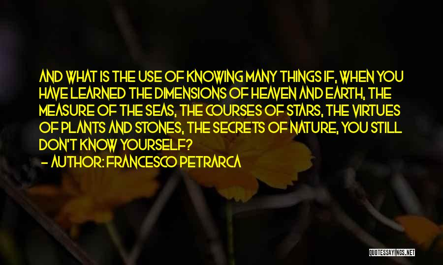 Nature Of Things Quotes By Francesco Petrarca