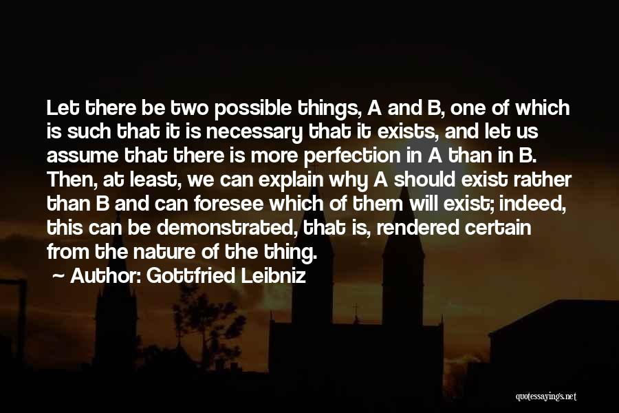 Nature Of Things Quotes By Gottfried Leibniz