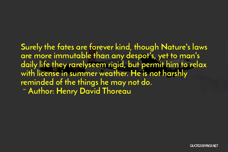 Nature Of Things Quotes By Henry David Thoreau