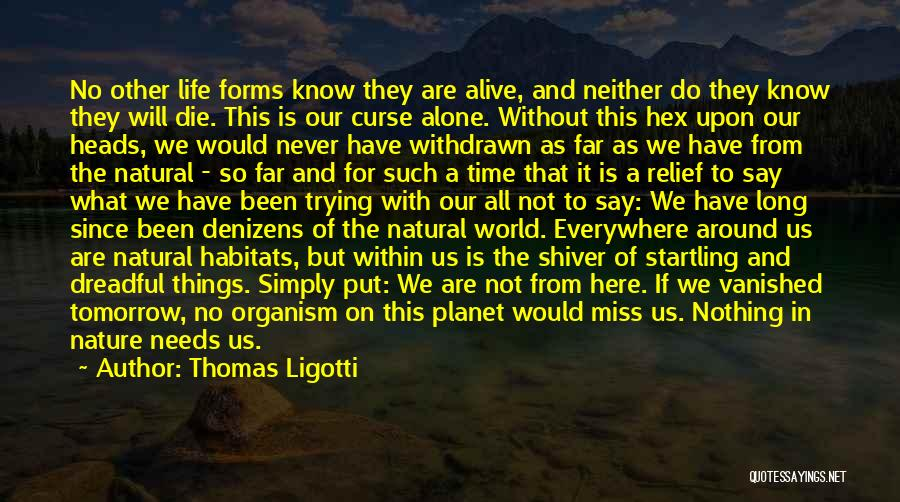 Nature Of Things Quotes By Thomas Ligotti