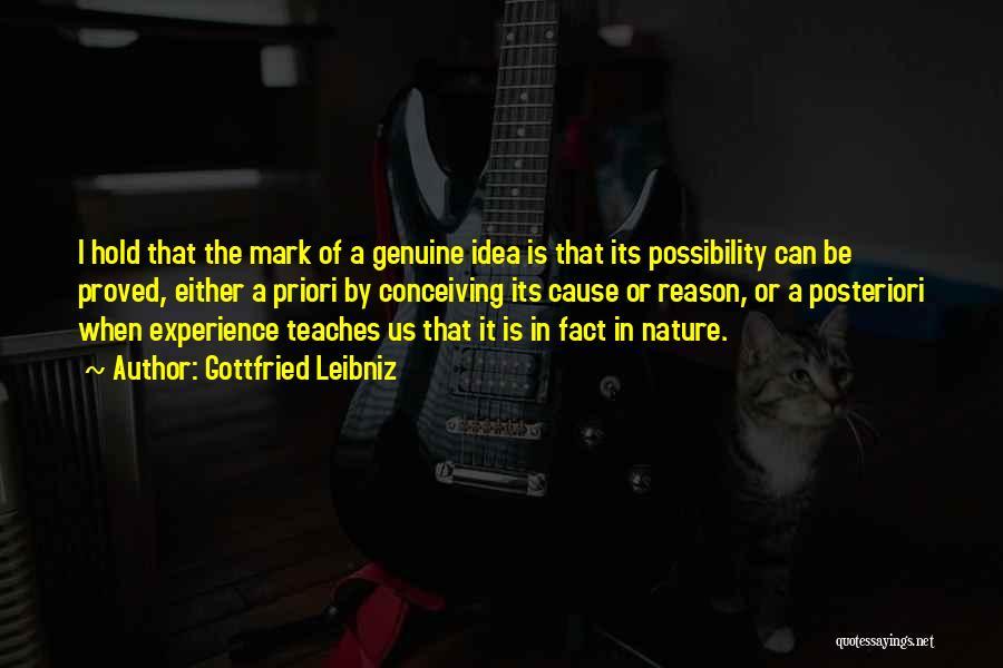 Nature Teaches Us Quotes By Gottfried Leibniz
