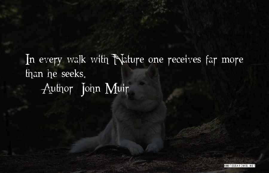 Nature Walk Quotes By John Muir