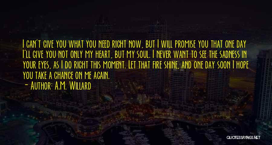 Need A Chance Quotes By A.M. Willard