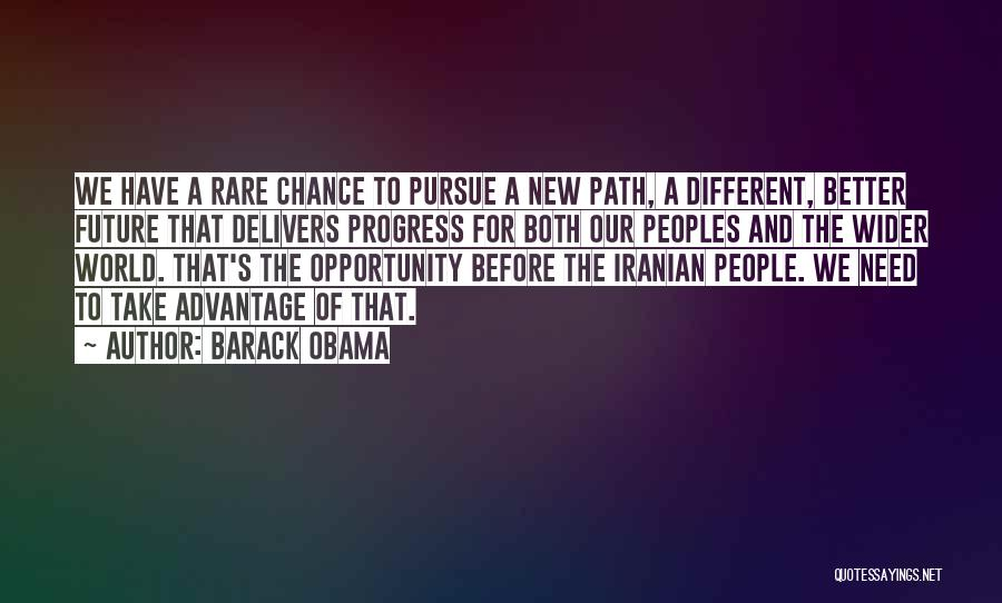Need A Chance Quotes By Barack Obama