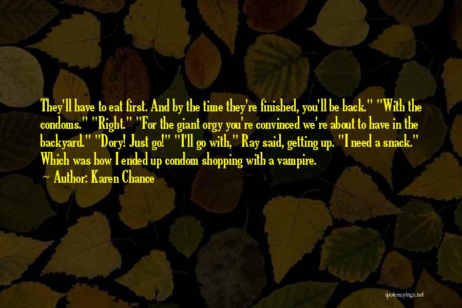 Need A Chance Quotes By Karen Chance