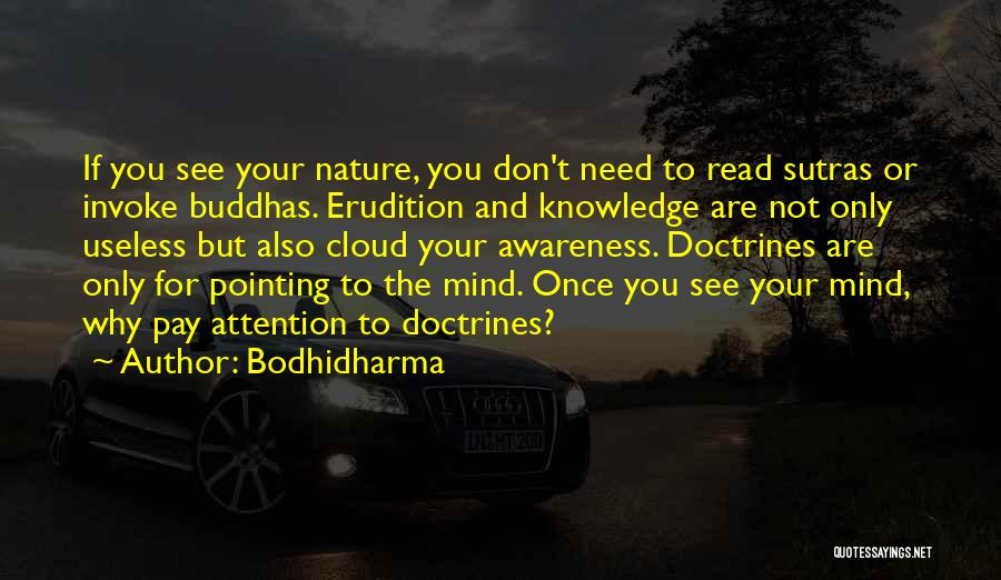 Need For Attention Quotes By Bodhidharma