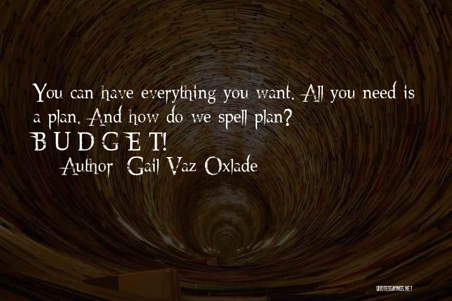 Need U Quotes By Gail Vaz-Oxlade