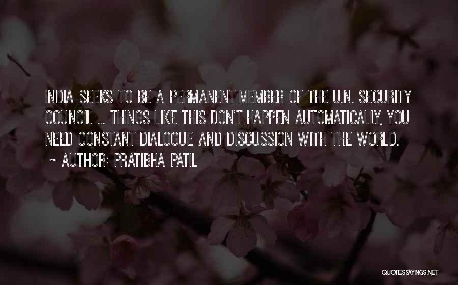 Need U Quotes By Pratibha Patil